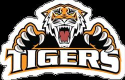 Tigers Logo Mascot Sticker