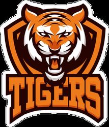 Tigers Mascot Logo Sticker