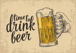 Time To Drink Beer Sticker