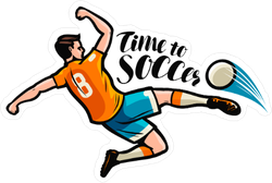 Time to Soccer Sticker