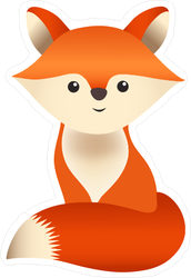 Tiny Fox Kit Sticker