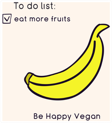 To Do Eat More Fruits Happy Vegan Banana Sticker