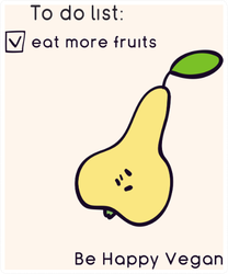 To Do Eat More Fruits Happy Vegan Pear Sticker