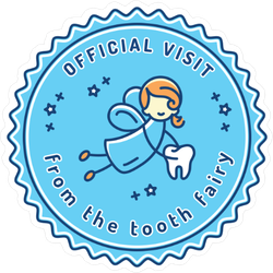 Tooth Fairy Dentist Stamp Sticker