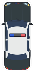Top View Police Car Sticker