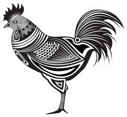 Totem Tribal Rooster Sticker
