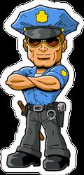 Tough Policeman Sticker