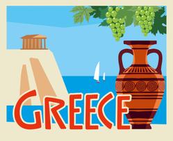 Tourist Postcard Greece Sticker