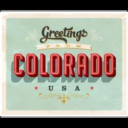 Touristic Greeting Card Colorado Sticker