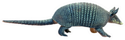 Toy Armadillo In Blue Sticker