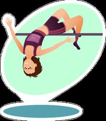 Track-and-field Athletics Illustration Sticker