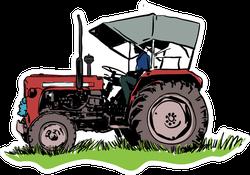 Tractor Illustration Sticker