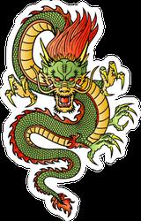 Traditional Asian Dragon Artwork Sticker