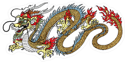 Traditional Chinese Dragon Sticker