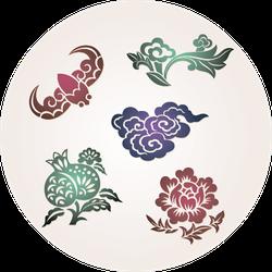 Traditional Lucky Symbols Sticker