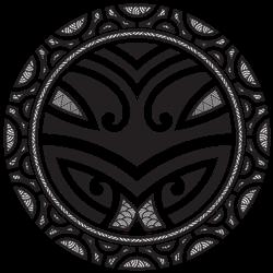Traditional Maori Taniwha Tattoo Sticker
