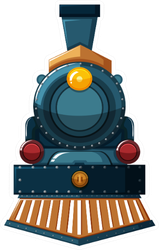 Train Design On White Background Illustration Sticker