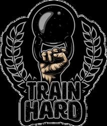 Train Hard Weight Sticker