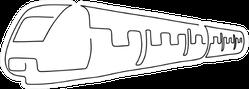 Train Line Drawing, Illustration Design Sticker
