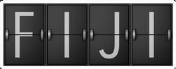 Travel Board Showing Fiji Text Sticker