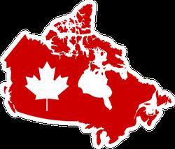 Travel Flag Maple Leaf Canada Map Sticker