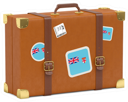 Travel Suitcase With Flag Of Fiji Sticker