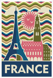 Travel To France Sticker