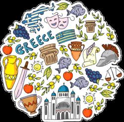 Travel To Greece Sticker
