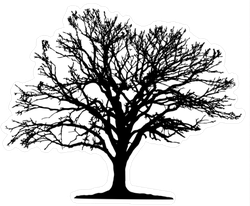 Tree Silhouette Sticker