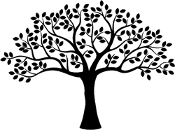 Tree With Leaves Silhouette Sticker