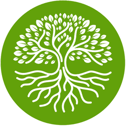 Tree With Roots Circle Sticker