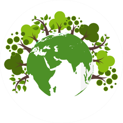 Trees Around The Earth Sticker