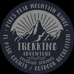 Trekking Adventure Colorado Springs Illustration Sticker