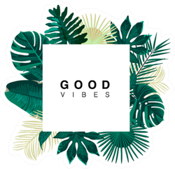 Trendy Summer Tropical Leaves Good Vibes Sticker Choose from over a million free vectors, clipart graphics, vector art images, design templates, and illustrations created by artists worldwide! trendy summer tropical leaves good vibes sticker