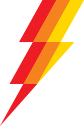 Tri-Color Lightning Bolt Sticker