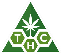 Triangle Cannabis THC Logo Sticker