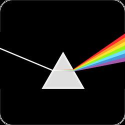 Triangular Prism Breaks Light Into Rainbow Sticker