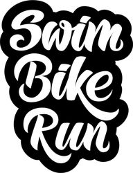Triathlon Swim Bike Run Type Sticker