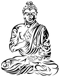 Tribal Buddha Sticker