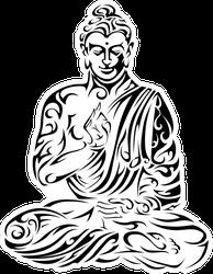 Tribal Buddha Sticker