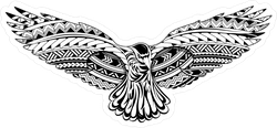 Tribal Decorative Crow Sticker