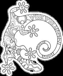 Tribal Decorative Lizard Sticker
