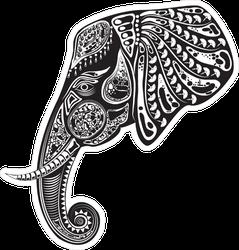 Tribal Elephant Totem Sticker