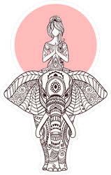 Tribal Elephant Yoga Sticker