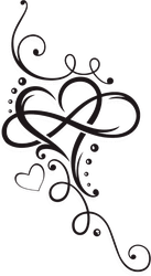 Tribal Heart With Large Infinity Loop Sticker