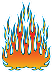 Tribal Hot Rod Flames Sticker