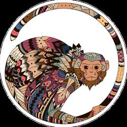 Tribal Monkey Symbol Sticker