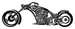 Tribal Motorcycle Sticker