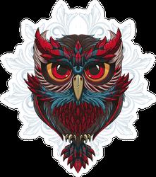 Tribal Owl Crest Sticker