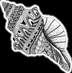 Tribal Sea Cockleshell Sticker